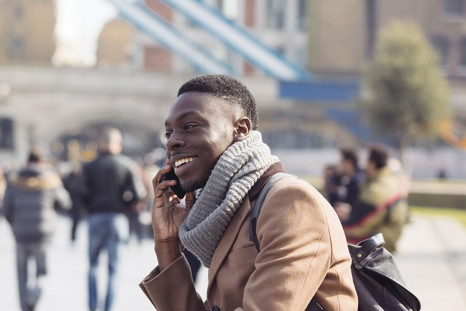 man on a  mobile phone